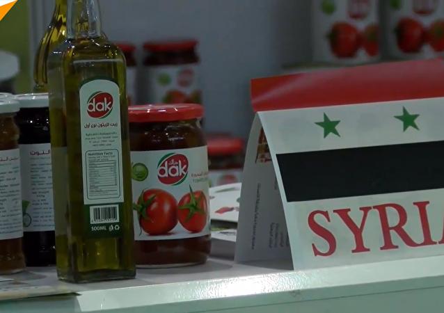 叙利亚甜品进博会上大受欢迎