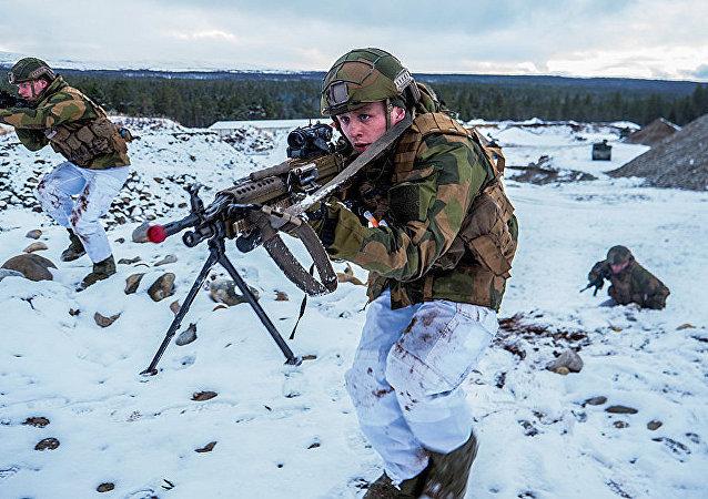 挪威軍人參加北約「三叉戟接點」軍演