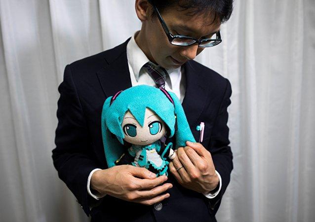 日本男子娶虛擬女歌手為妻