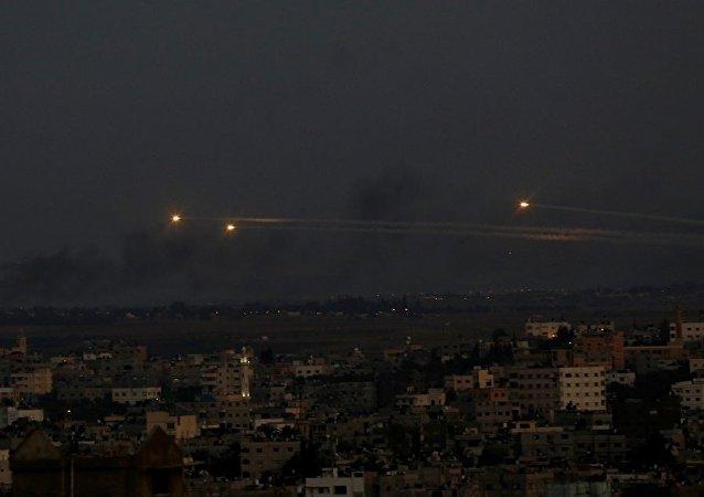 以軍為回應巴武裝分子攻擊打擊加沙地帶20多個目標