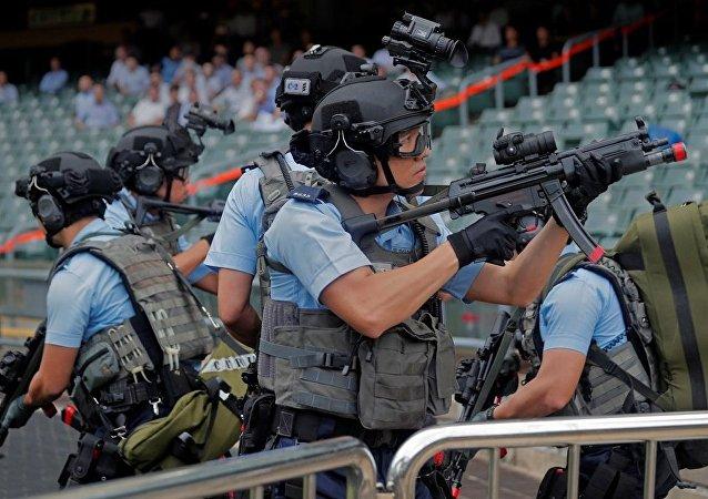 第二届世界警察手枪射击比赛在广东举行