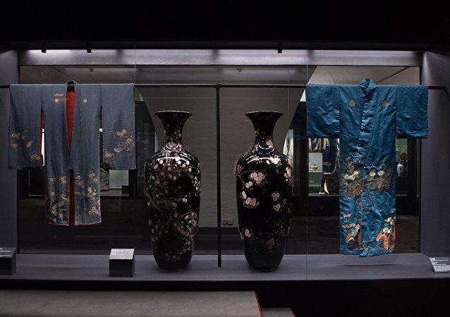 價值600萬盧布的日本古董花瓶在莫斯科展出後被盜