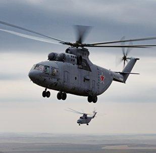 俄米-26改进型直升机画面首曝光