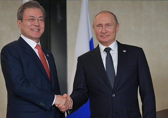 普京:俄韓正積極合作解決朝鮮核問題