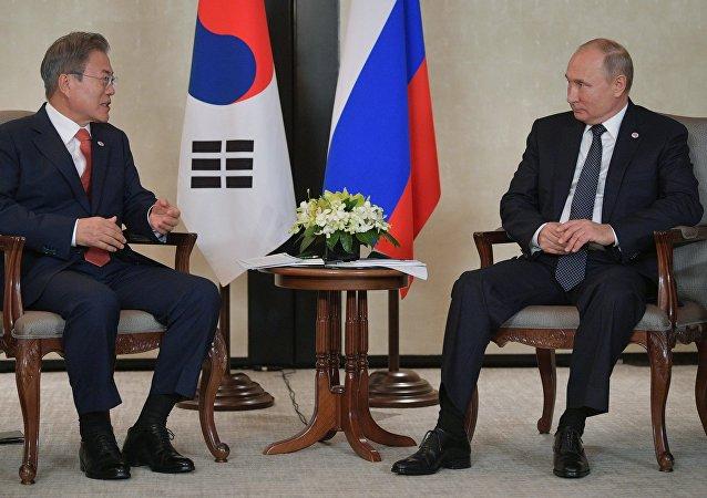 青瓦台:韓俄領導人討論放寬對朝制裁問題