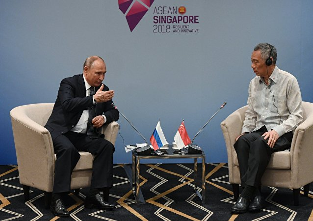 普京与新加坡总理进行双边会晤