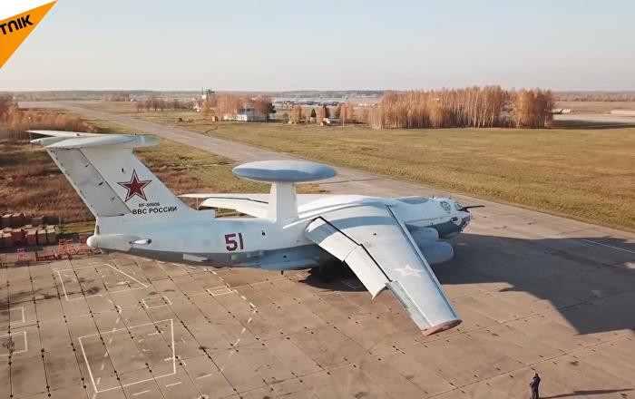 A-50遠程雷達預警機罕見飛行畫面