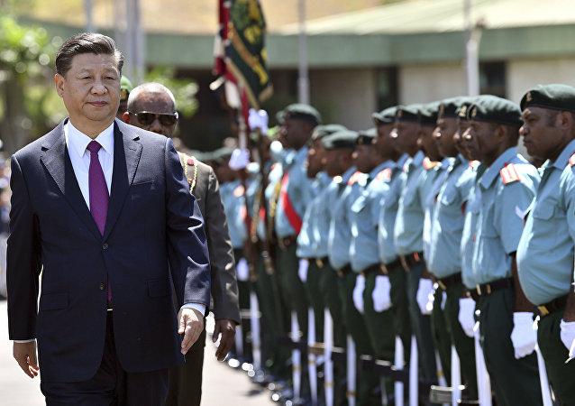 習近平和巴新總理宣佈建立中巴新全面戰略夥伴關係