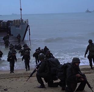 巴西人员救援演习