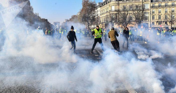 法国示威活动(图片资料)