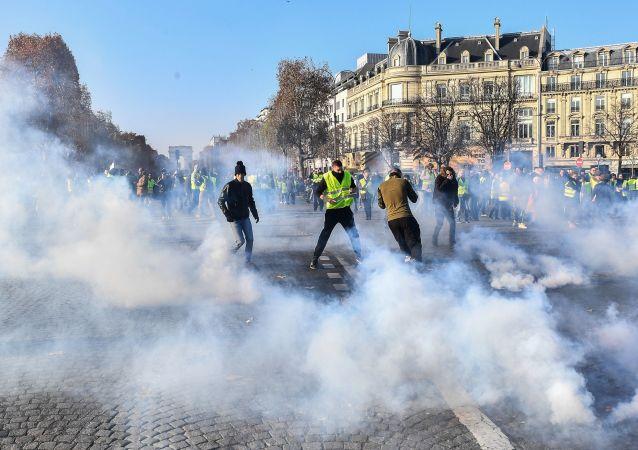 法國示威活動(圖片資料)