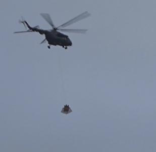 直升機飛越克里姆林宮上空
