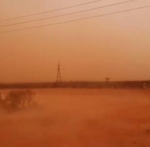 沙塵暴來襲澳大利亞東南部現橙色天空