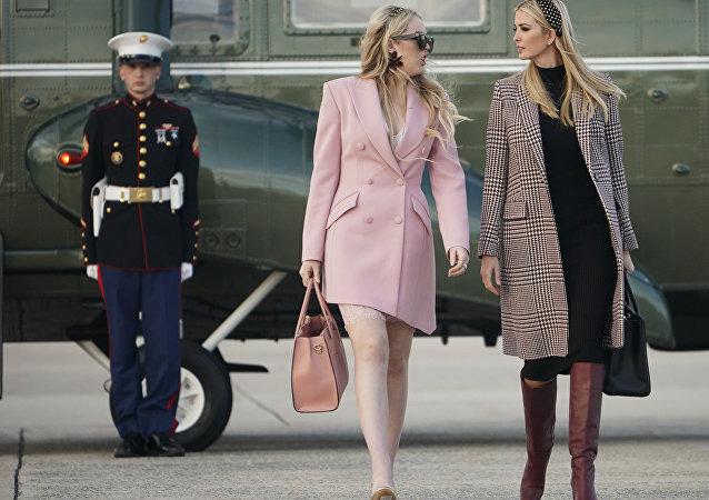 特朗普女儿伊万卡和蒂芙尼