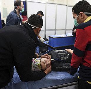 2018年11月24日恐怖組織的武裝分子向阿勒頗居民區發射了含有毒物的炮彈
