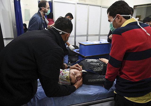 2018年11月24日恐怖组织的武装分子向阿勒颇居民区发射了含有毒物的炮弹