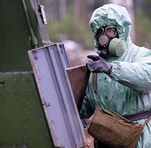 俄羅斯輻射、化學和生物防護部隊軍人 (資料圖片)