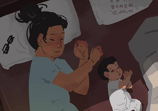 台灣藝術家藍聖傑的親子作品