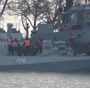 烏克蘭海軍在黑海海域進行挑舋