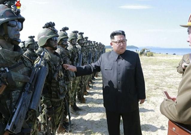 Лидер КНДР Ким Чен Ын инспектирует солдат в Северной Корее