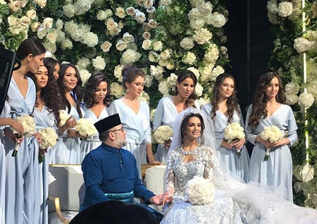 馬來西亞最高元首迎娶莫斯科小姐