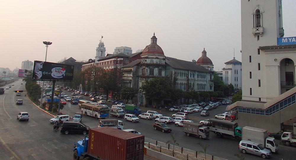 缅甸的仰光(图片资料)