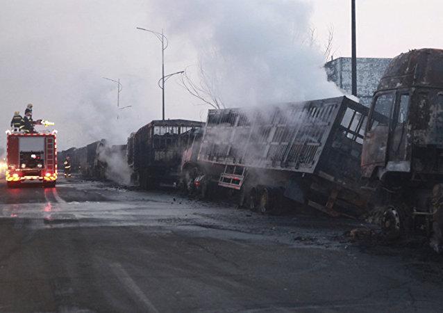 張家口爆炸事故初步原因系運輸乙炔車輛爆炸