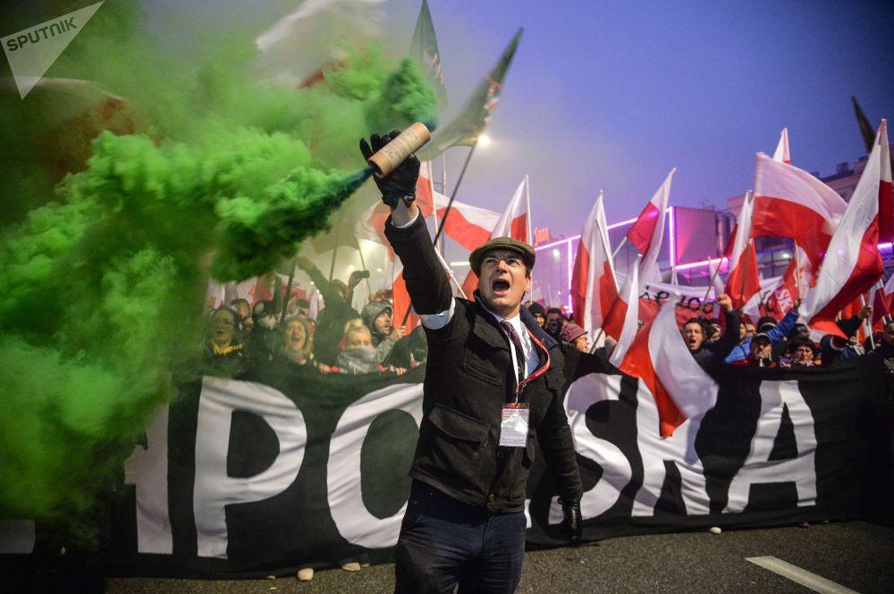 波蘭獨立100週年遊行,華沙