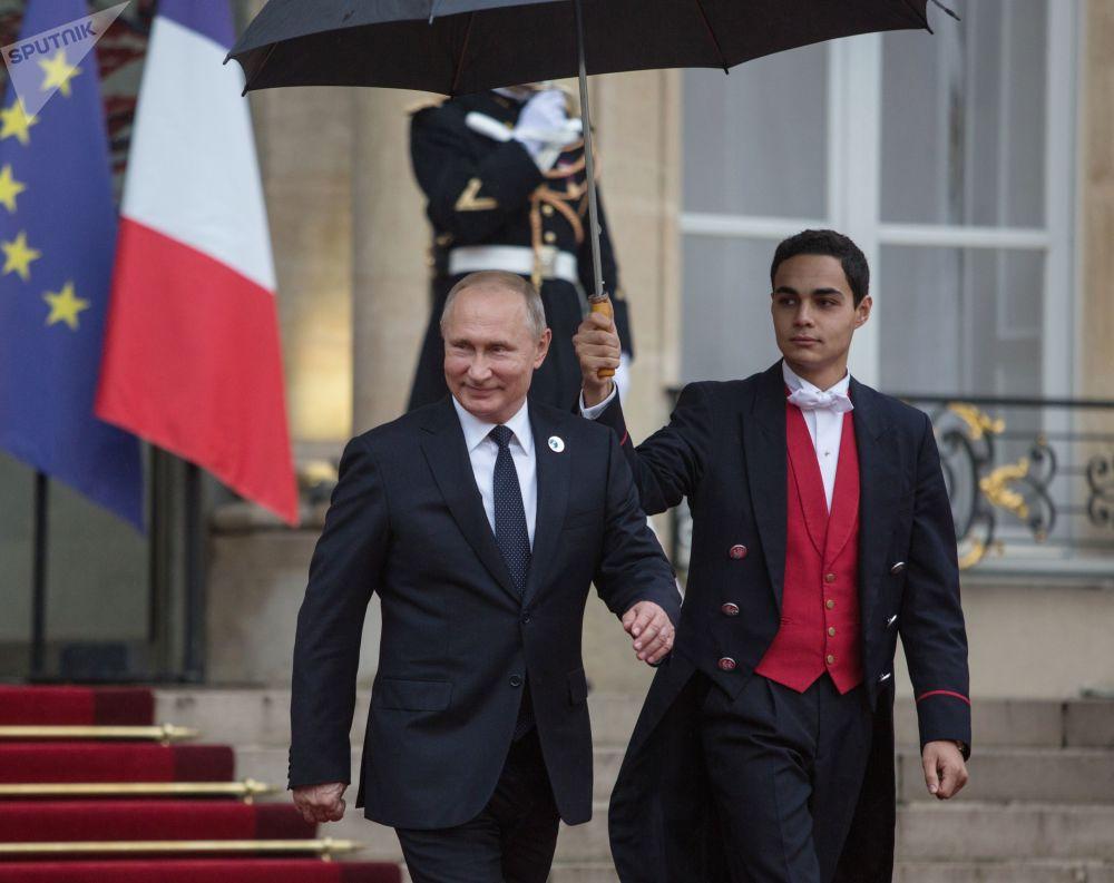 俄羅斯總統弗拉基米爾·普京在愛麗捨宮