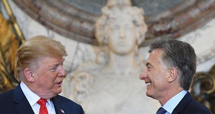"""白宫:特朗普与阿根廷总统讨论中国的""""掠夺性经济活动"""""""