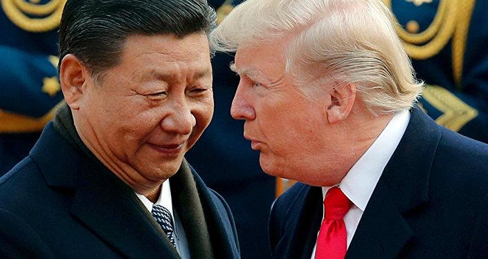 中国国家主席习近平(左)和美国总统特朗普