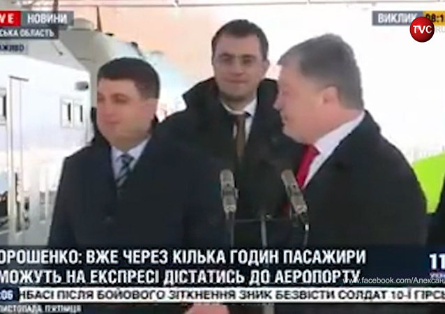媒體播放一段醉酒狀態下波羅申科講話的視頻