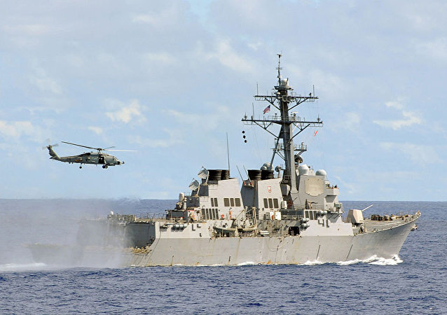 """美国导弹驱逐舰""""麦康贝尔号""""(McCampbell)"""
