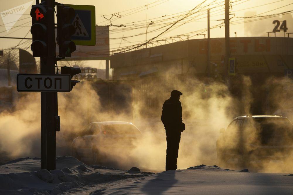 零下30度:嚴寒襲擊新西伯利亞市