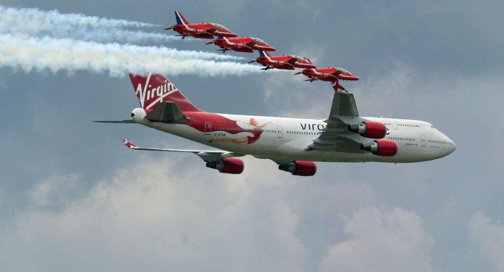 英國的波音747飛機(資料圖片)
