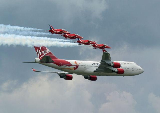 英国的波音747飞机(资料图片)