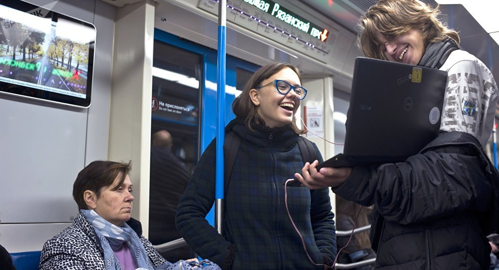 莫斯科地鐵新設普希金虛擬書架