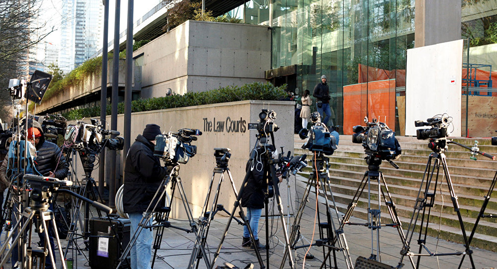 華為首席財務官抵達加拿大法庭參加保釋聽證會