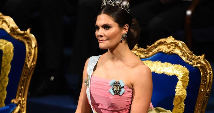瑞典王储维多利亚公主出席诺贝尔奖颁奖仪式
