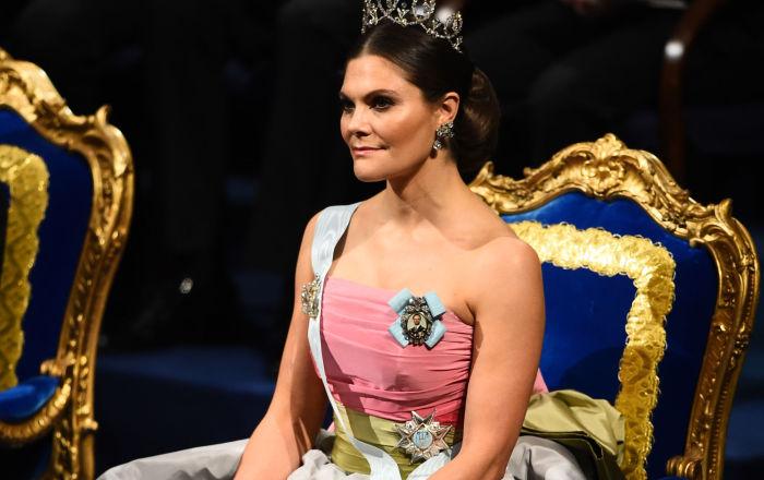 瑞典王儲維多利亞公主出席諾貝爾獎頒獎儀式