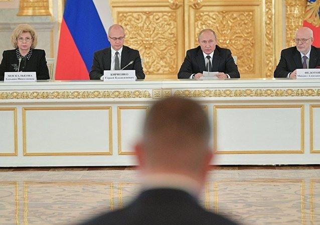 普京在人权委员会会议上不赞同对外国人实行宽松处罚