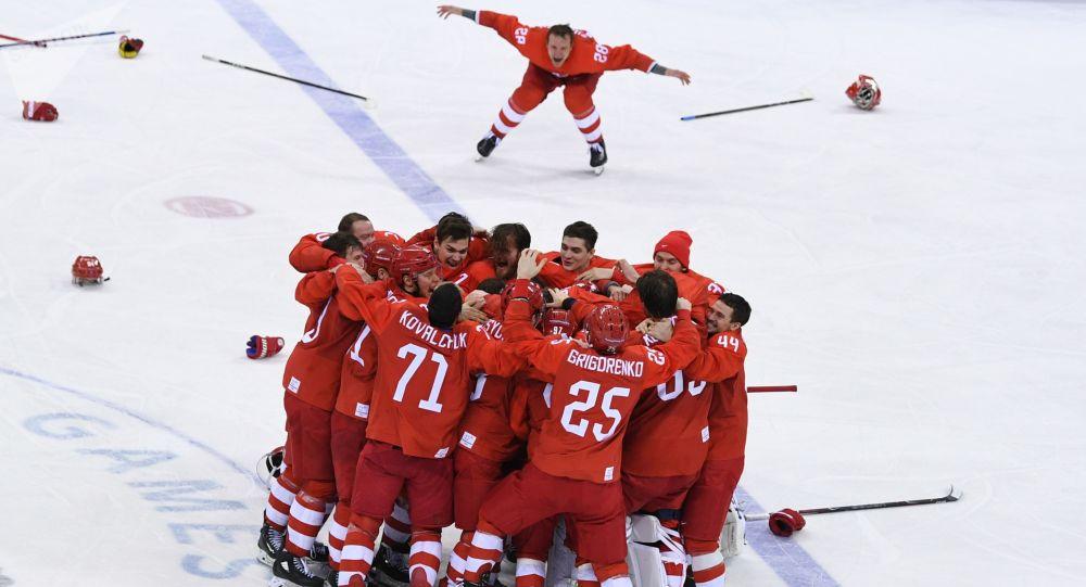 俄羅斯冰球選手在世界冰球錦標賽第一階段大獲全勝