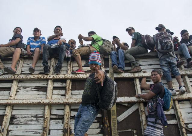 危地馬拉境內約2000名大篷車移民獲聯合國援助