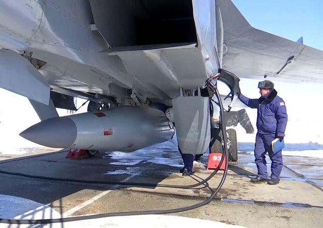 """米格-31K携带高超音速导弹""""匕首"""""""