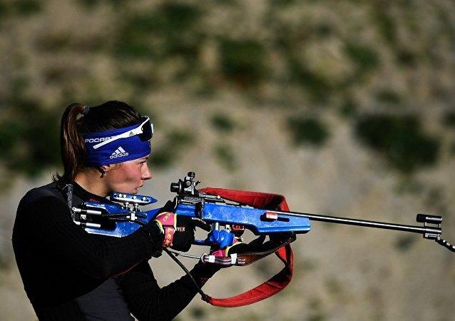 俄罗斯冬季两项运动员阿纳斯塔西亚•莫洛佐娃