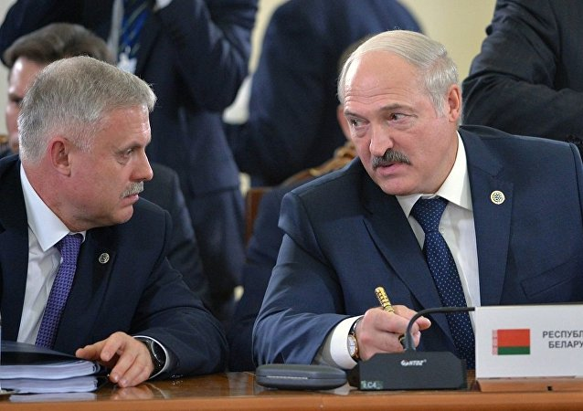 斯坦尼斯拉夫∙扎西和白俄罗斯总统亚历山大∙卢卡申科