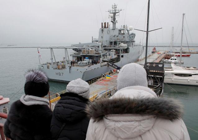 英國海軍「回聲」號偵察船(HMS Echo)抵達敖德薩港