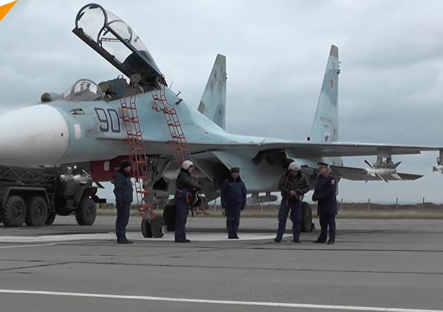 升级改造后的贝尔贝克机场接收第一批苏-30M2