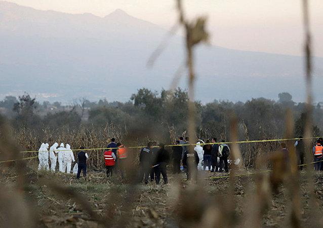 墨西哥地区领导人搭乘的直升机坠毁