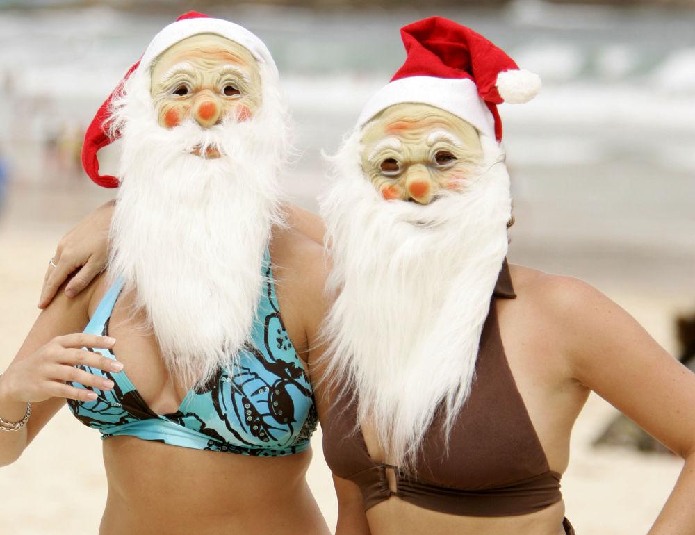 如果在海滩庆祝新年……